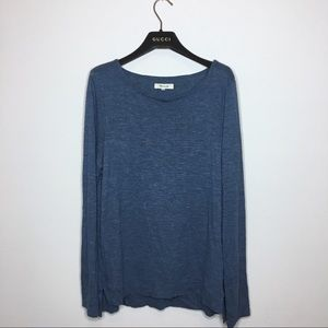Madewell Blue Anthem Boat Neck Long Sleeve T-Shirt